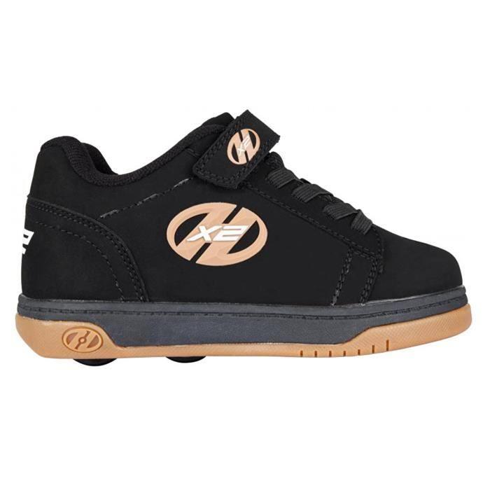 Heelys - Chaussures à roulettes X2 Dual Up - 2 x 2 roues - noir/caoutchouc
