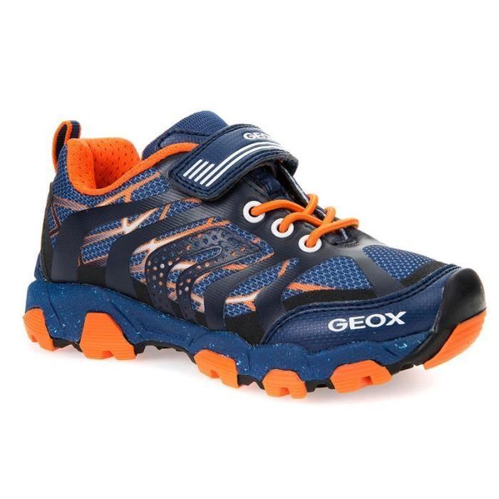 Géox Baskets Running Bleu Orange Elastique (24 - Médium - bleu)