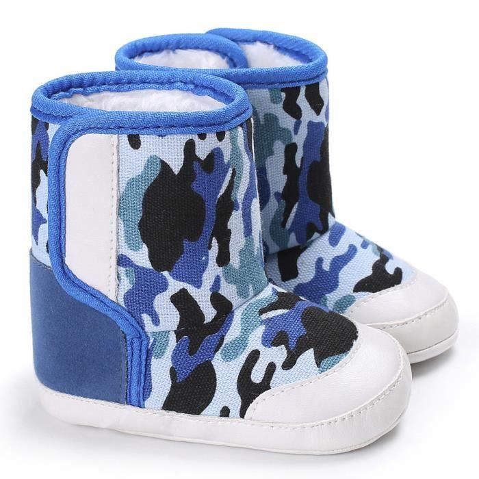 crèche souples semelle Bleu bottes neige pour chaussures de bébé bottes BOTTE foncé doux de petits Camouflage tout qUSnwvxxz4