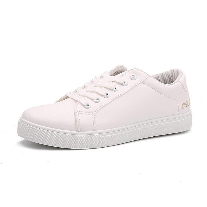 Homme de Confortable Cuir Chaussures chaussure BBZH Homme XZ210Blanc40 mode ville qgASI