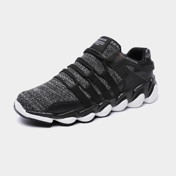 Baskets Homme Chaussure hiver Jogging Sport Ultra Léger Respirant Chaussures BMMJ-XZ229Gris43 KqyaFE