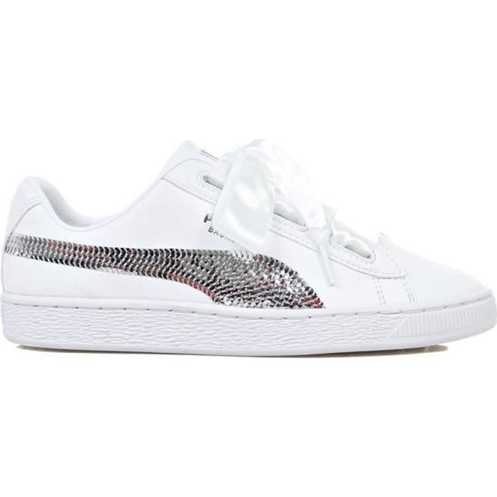 Heart Basket Chaussures Jr Puma Bling 3K1TlFJc