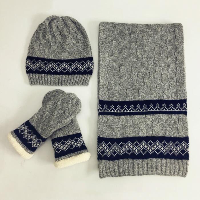 BONNET - CAGOULE Homme-Femme chapeau+echarpe+gants Coffret de Noël 642ea6aca34