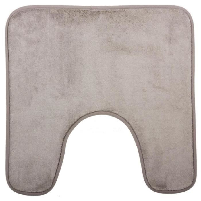 tapis wc taupe achat vente tapis wc taupe pas cher cdiscount. Black Bedroom Furniture Sets. Home Design Ideas