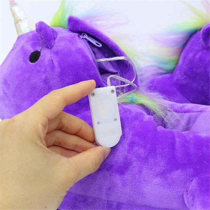 Unicorn Chaussons lumineux Mignon Couple Coton Chaussure Garde Au Chaud Haut qualité violet Hiver Adulte Chausson Nouvelle 47 bpWsYWxc