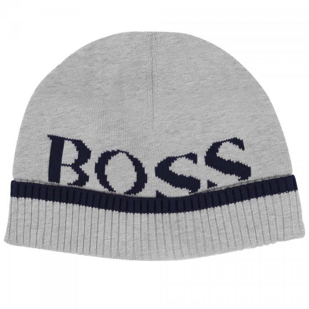 7b033b9f664 HUGO BOSS - Bonnet gris - Achat   Vente bonnet - cagoule ...