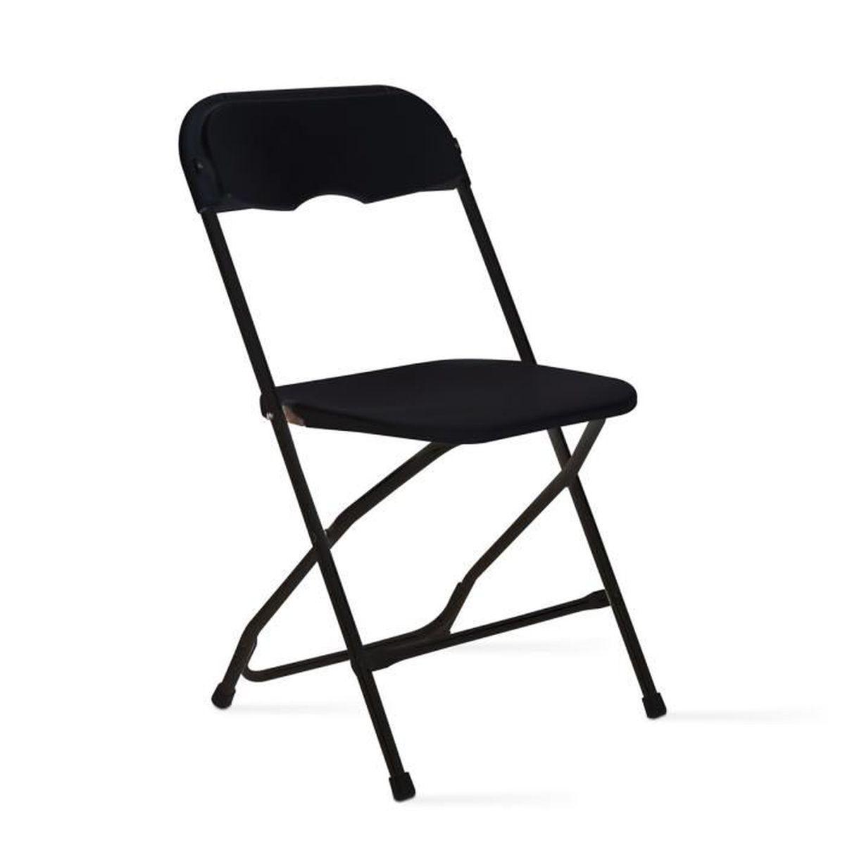 chaise pliante noire achat vente chaise noir cdiscount. Black Bedroom Furniture Sets. Home Design Ideas