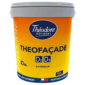 PEINTURE - VERNIS Théofaçade D2-D3 - Gris Ciment - 15L : Peinture ra