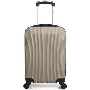 VALISE - BAGAGE Valise Cabine-ABS - Rigide - 50 cm MOSCOU-CHAMPAGN