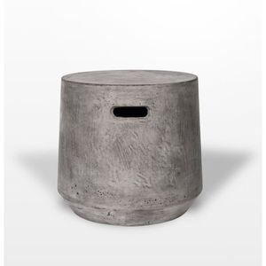 TABOURET Petit tabouret, pouf en béton avec poignée  cylind