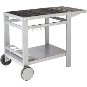 CHARIOT - SUPPORT COOK'IN GARDEN Desserte Media L en bois et métal -