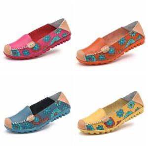 Mocassins Femmes Printemps ete Cuir Chaussures BJYG-XZ056Orange35 ysQmOasqat