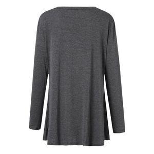 d16e912581f3 MANTEAU - CABAN Femmes Casual Plus Size manches longues Pure Color ...