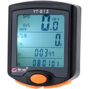 COMPTEUR POUR CYCLE Odomètre Compteur de Vitesse Chronomètre Sans Fil