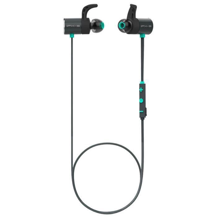 Écouteur Bluetooth Magnétique Anti-transpiration Pour Sport Voiture Bureau Bleu