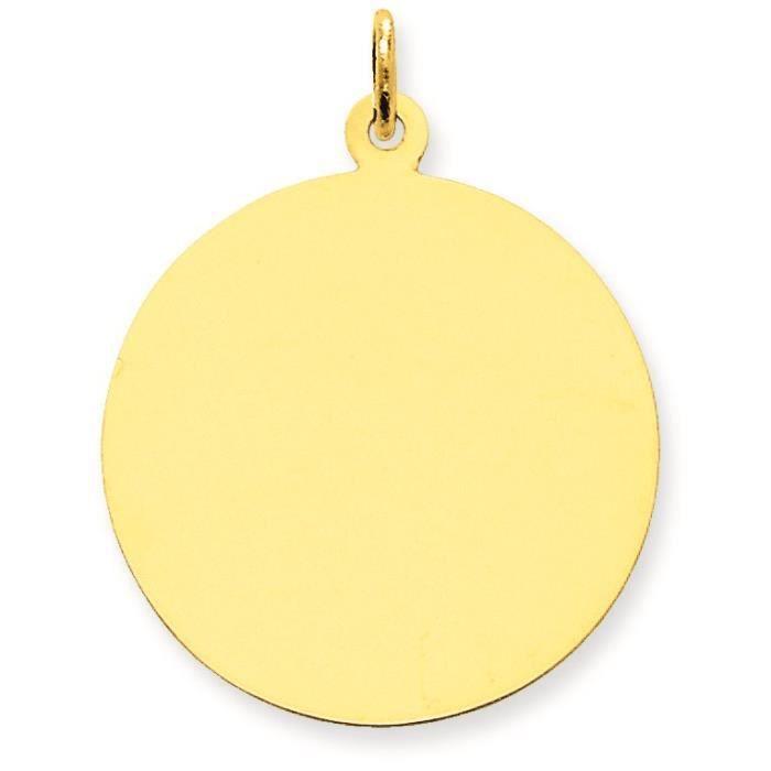 Uni .018 circulaire 14 carats Calibre-Engraveable disque charme