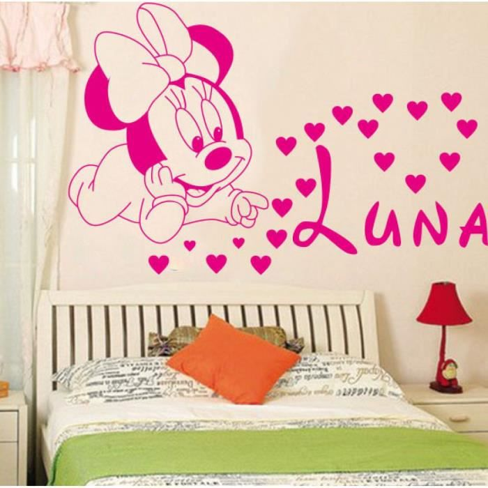 Décoration Loisirs Créatifs Mignon Mickey Minnie Bébé Personnalisé