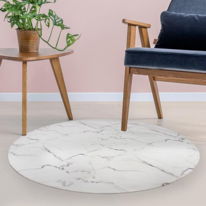 tapis marbre 60 x 60 cm blanc multicolore - achat / vente tapis