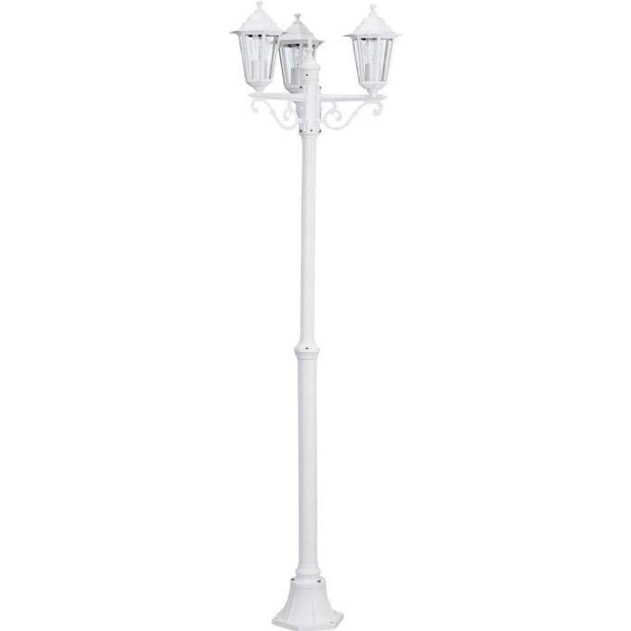 Laterna Lampadaire D Exterieur 3 Lumieres Blanc H192cm Achat