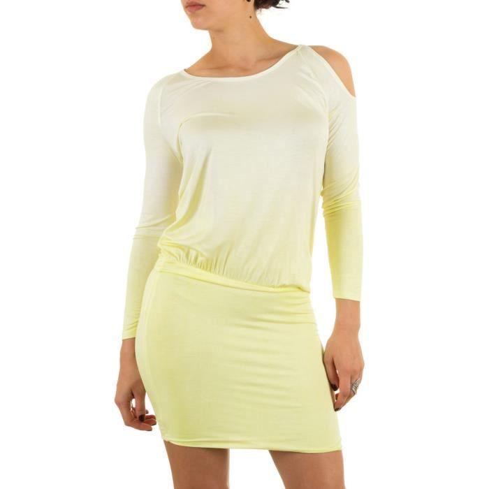 Femme robe élastique décolleté robe dété Loisirs robe robe tunique
