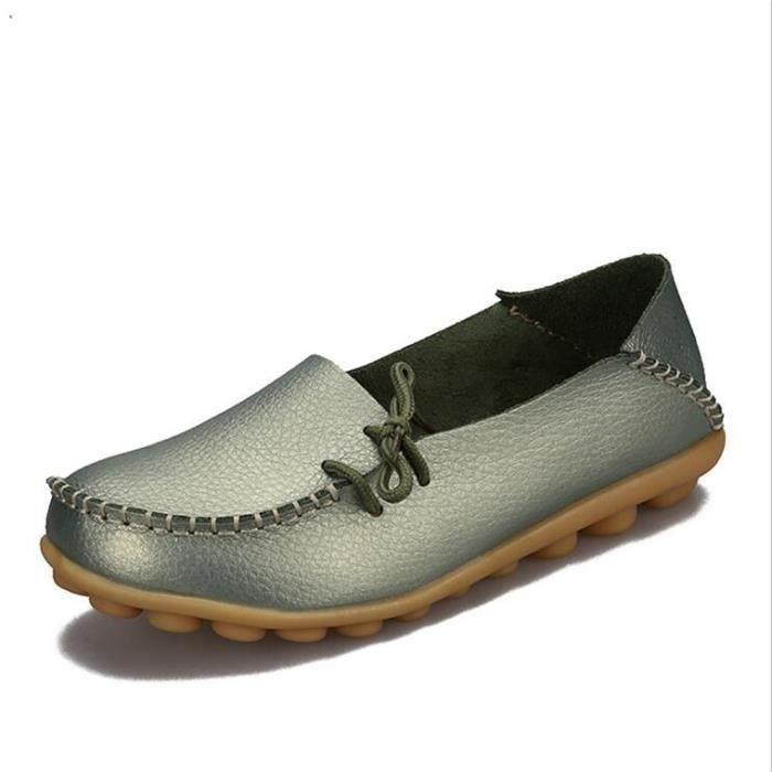 Chaussure Femme Été Qualité Supérieure Classique Loafer Confortable Antidérapant Poids Léger Moccasins Femme Respirant Taille 34 n2A5FoY0t