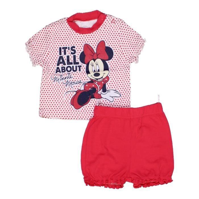 a0f4d931838b1 Pyjama 2 pièces bébé fille C A 6 mois rouge été - vêtement bébé  1006841