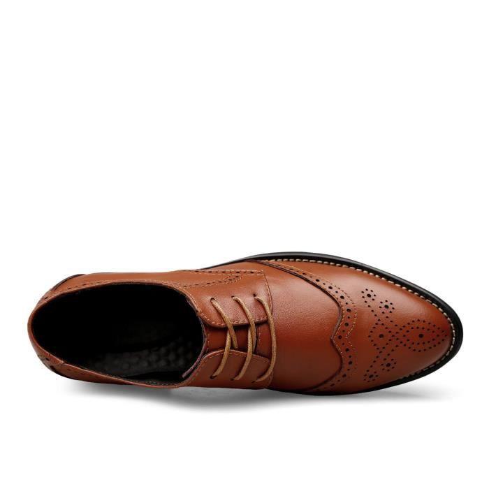 Oxford Chaussures en cuir Bullock Chaussures Avec un design sculpté creux J93VR Taille-45