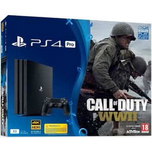 CONSOLE PS4 PS4 PRO 1 To + Call Of Duty : World War II + Qui e