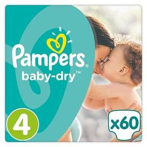 COUCHE PAMPERS Baby-Dry Taille 4 8-16 kg - 60 Couches