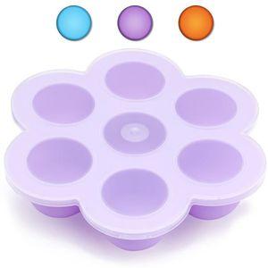 Boîtes de conservation en Silicone pour Repas de Bébé, Aliments et cubes de glace Congélation conteneur, Violet