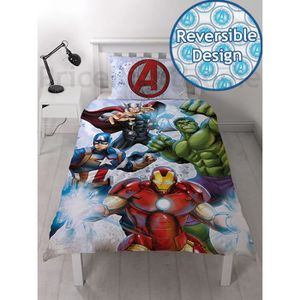 Marvel Avengers Single Ensemble de Housse de Couette
