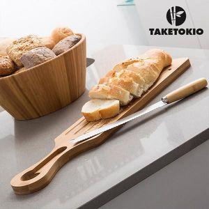 PLANCHE A DÉCOUPER Planche et Couteau à Couper le Pain Bambou TakeTok