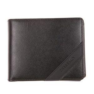 Petit portefeuille Chabrand boutonné en cuir Noir E3sdE