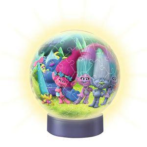 PUZZLE Puzzle ball 72 pièces lumineux la nuit : Les Troll