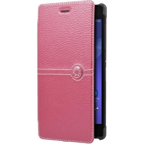 FACONNABLE Etui folio pour Sony Xperia Z2 - Rose