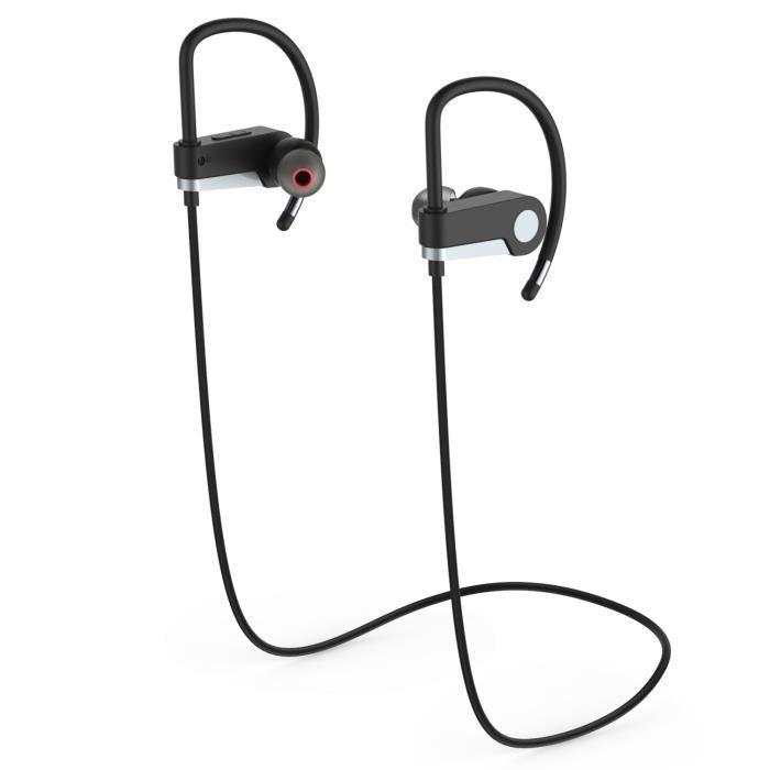 Lanvy Écouteur Bluetooth V4.0 Sportif Casque Sans Fil Sport À Décolleté Batterie 75mah Girs