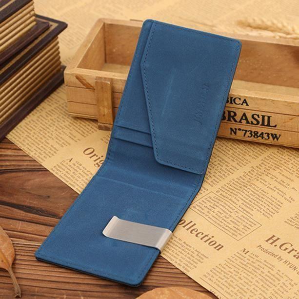 Deuxsuns®Portefeuille Porte-cartes d identification de carte de crédit  magique en cuir pour homme EEUDCAWSJ51015163BU 5fc4968def9