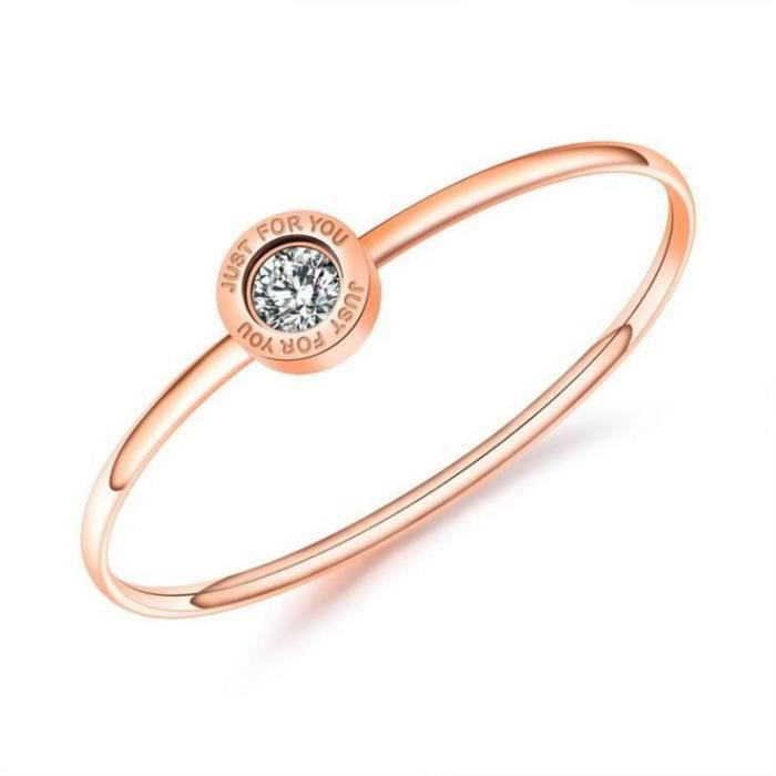 BraceletLacier de forage unique rose dor, bracelet Claiborne cadeau