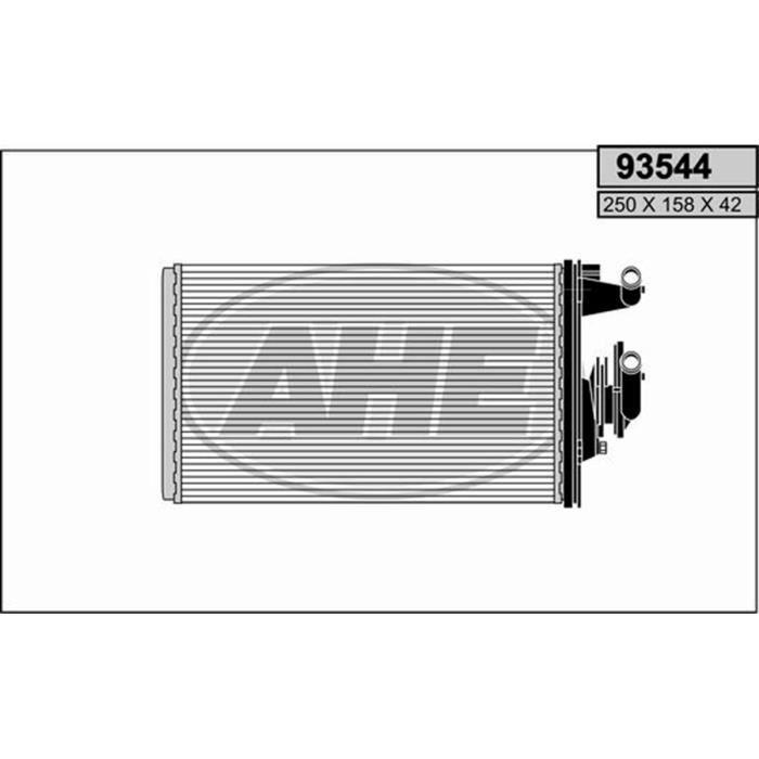 Radiateur de chauffage voiture ALFA ROMEO 155 1.8 i 16V Twin Spark du 1996  - 93544-145668