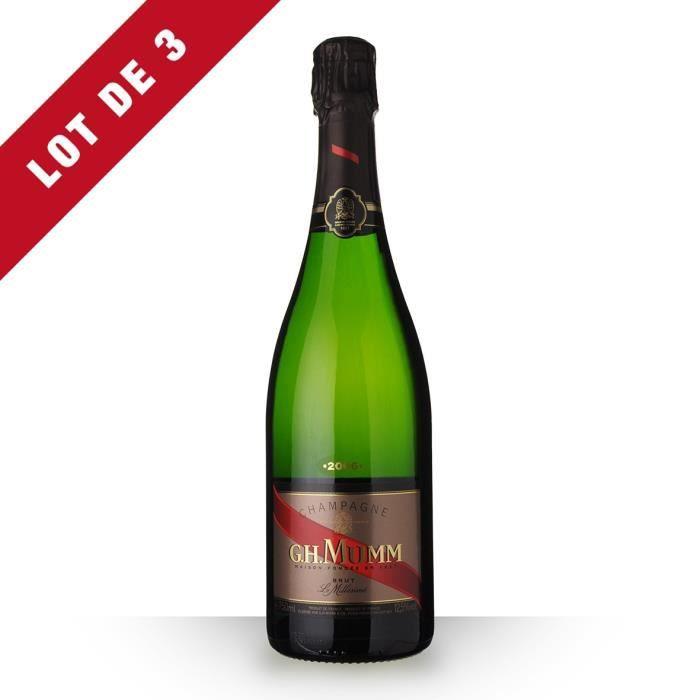 Champagne mumm millesime 2006 prix