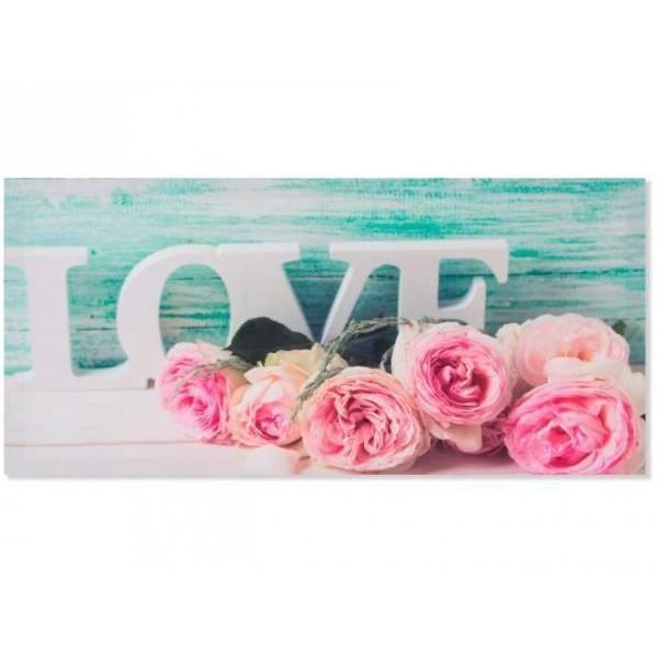 Cadre Toile Fleur Rose Romantique 79 X 38 Cm C Achat Vente