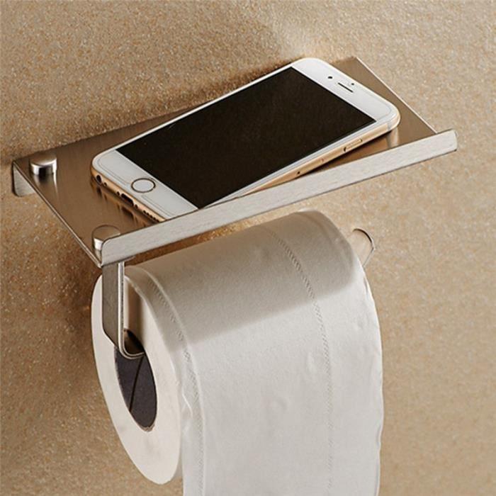 Porte Papier Toilette Portepapier Support De Téléphone En Inox - Porte papier