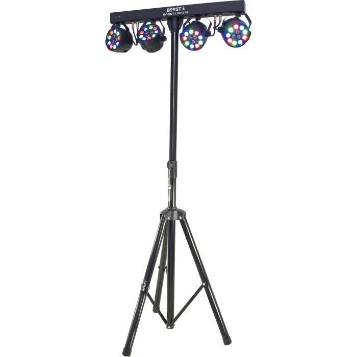 LAMPE ET SPOT DE SCÈNE BOOST 15-1186BO 4 projecteurs PAR sur barre transv