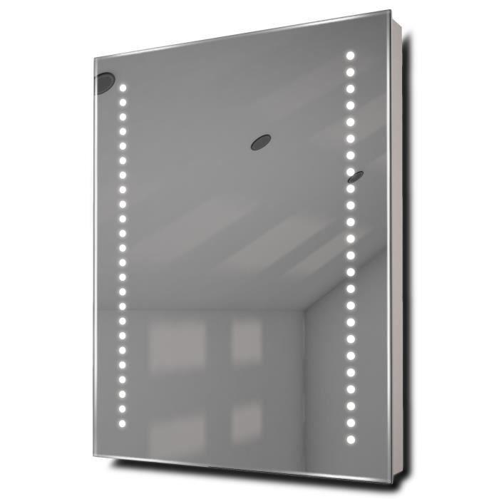 Miroir de salle de bain Diamond à piles éclairage DEL avec ...