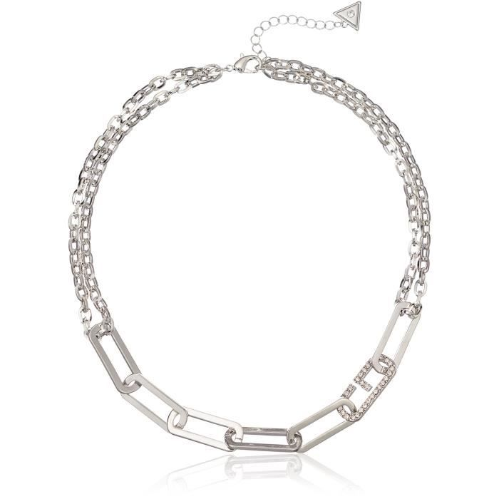 Guess Linked Metal Chain Necklace, 18 + 2 Extender JRPEJ