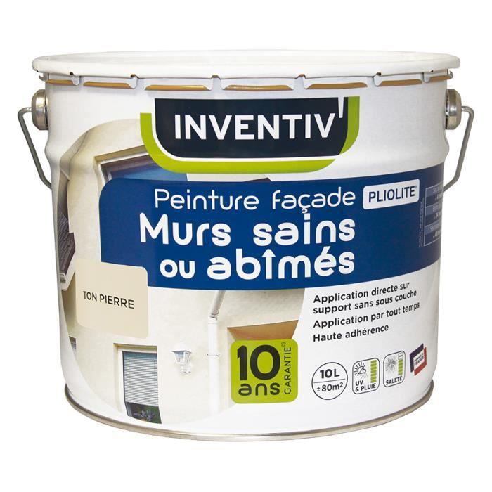 PEINTURE - VERNIS Peinture façade murs sains ou abîmés Pliolite - 10
