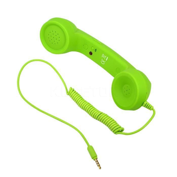 Combiné Rétro Pop Phone - Vert