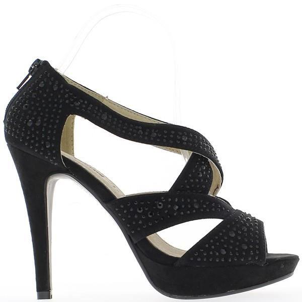 Sandales noires à talons de 12 c...