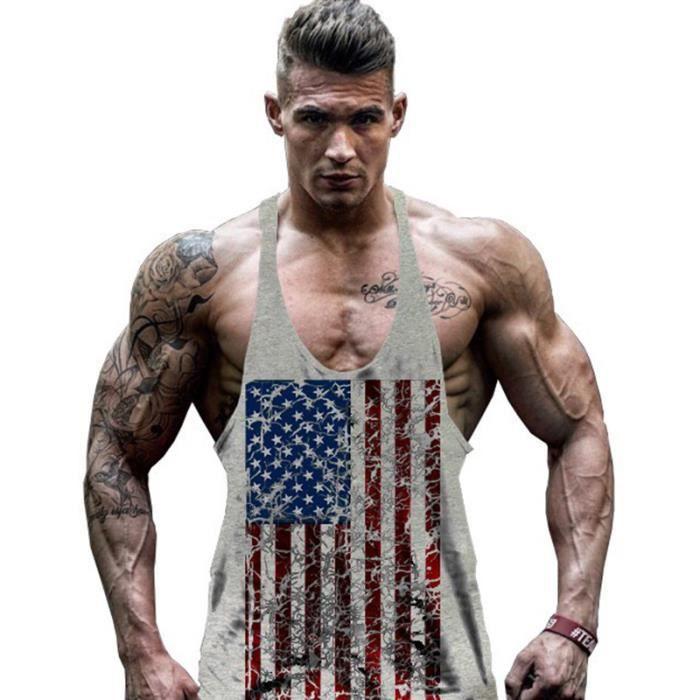 musculation beau t shirt homme d bardeur sans manche tank top fitness gym sports prix pas cher. Black Bedroom Furniture Sets. Home Design Ideas