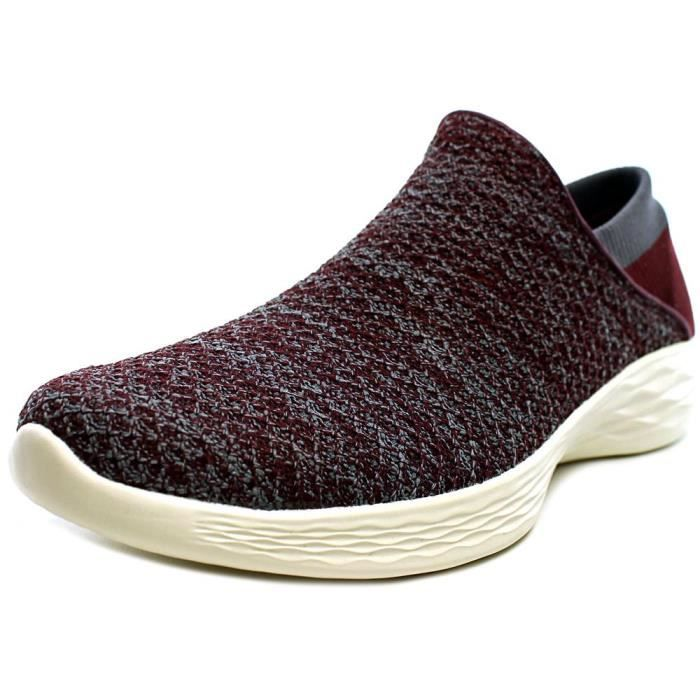 Marche Chaussure De Rouge Synthétique Skechers Achat You NnwvOm80